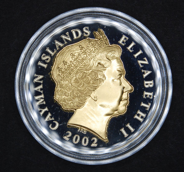 Cayman Islands. Silver proof 2 Dollars. 2002