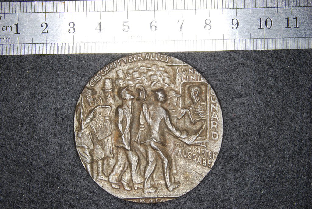 Lusitania medallion. British version.
