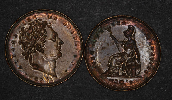 George IV. Farthing tin.