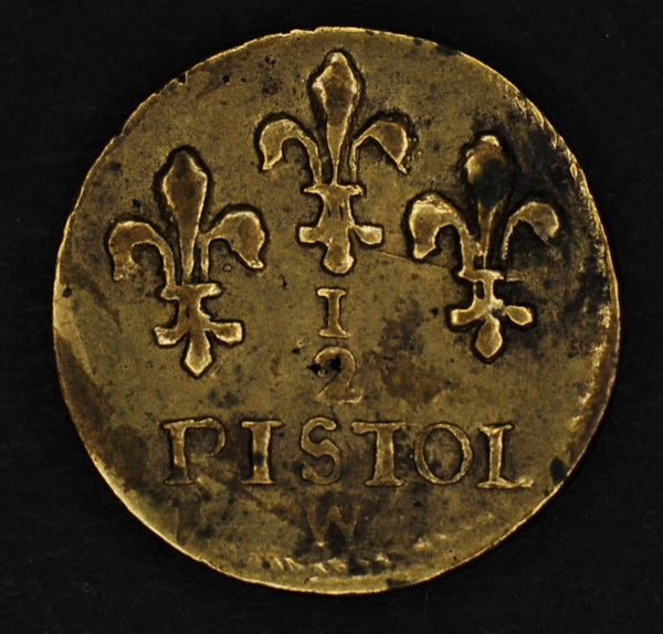 France. Louis XIIII. Half Pistol coin weight.