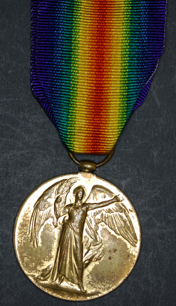 WW1. Victory medal. Norfolk Regiment./Royal Irish Rifles.