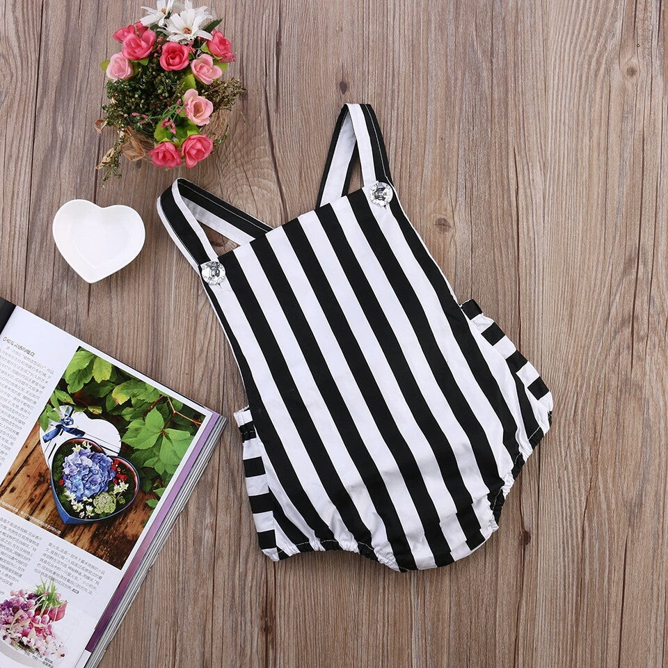 Chiara Monochrome Striped Playsuit