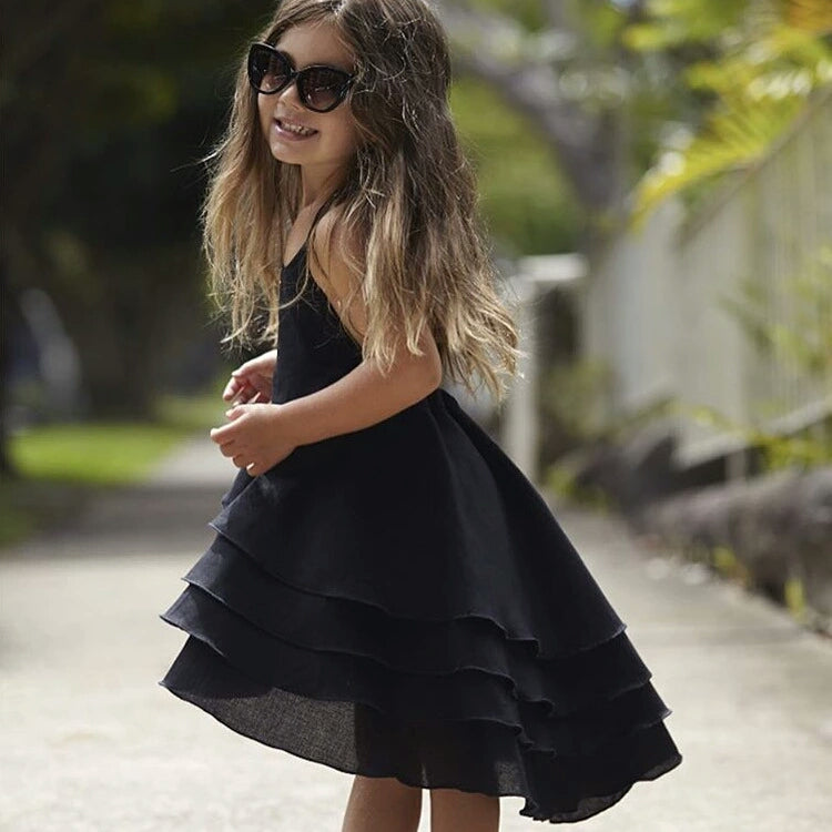 Bohemian Summer Dress (Black)