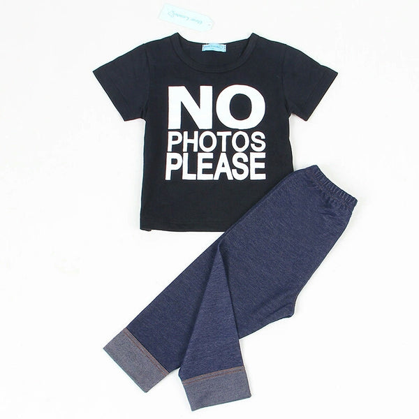 NO Photos Please 2 Piece Set