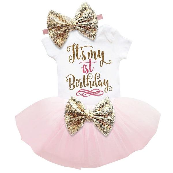 """It's My 1st Birthday"" 3 Pce Set (4 Colours)"