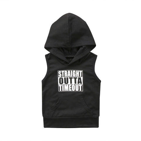 Straight Outta Timeout Sleeveless Hoodie