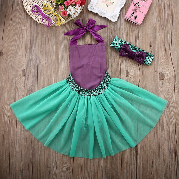 Ariel Tutu Romper with Headband