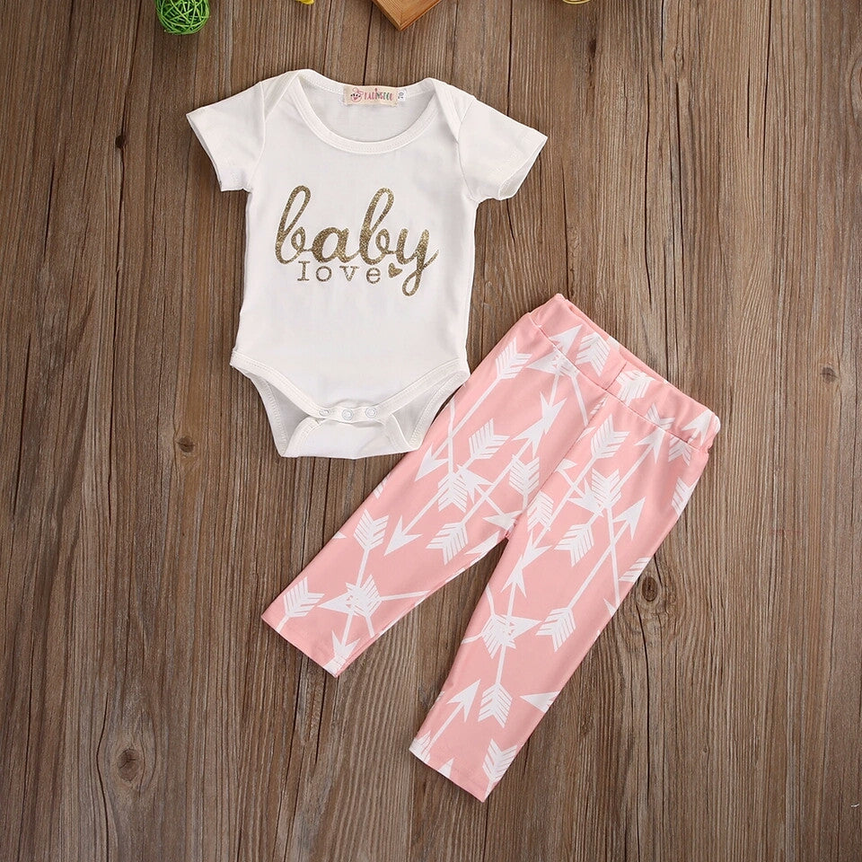 'Baby Love' Arrow 2 Piece Set