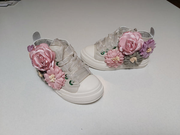 Floral Lace Up HighTops (3 Colours)