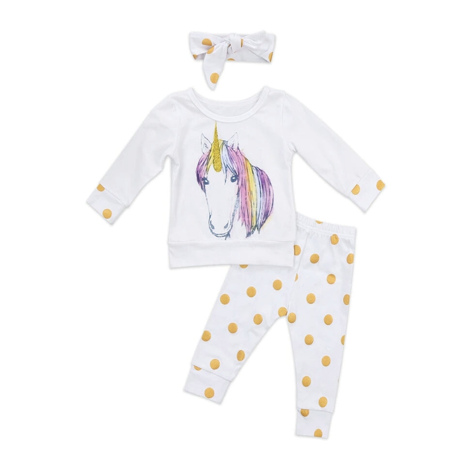 Unicorn Polka Dot 3 Piece Set
