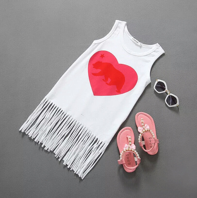 'Red Heart' Tassel Dress