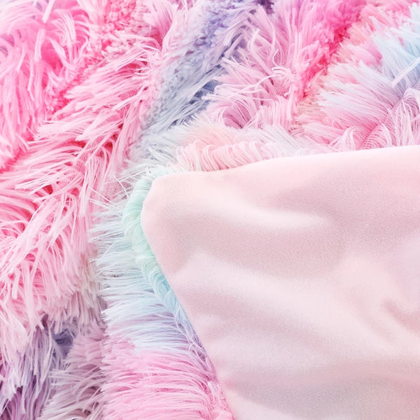 Unicorn Fluffy Throw Blanket