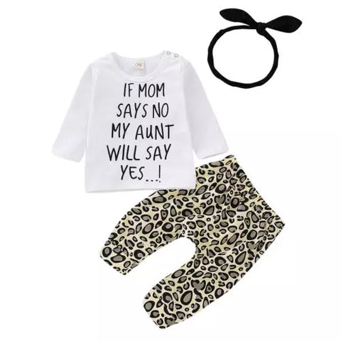 'If Mom Says No My Aunt Will Say Yes!' 3 Piece Set