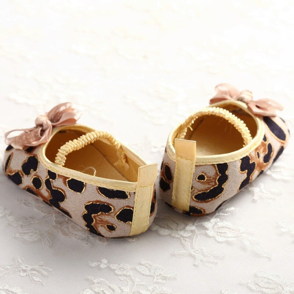 Leopard Print Bow Slip Ons