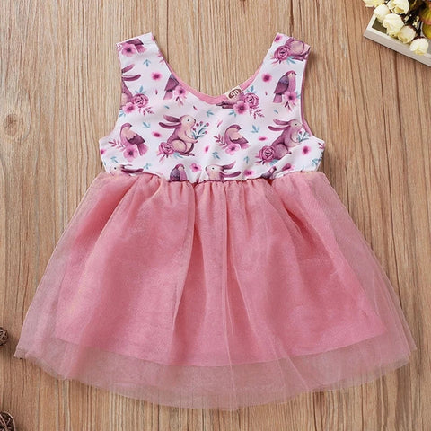 Bunny Print Easter Dress