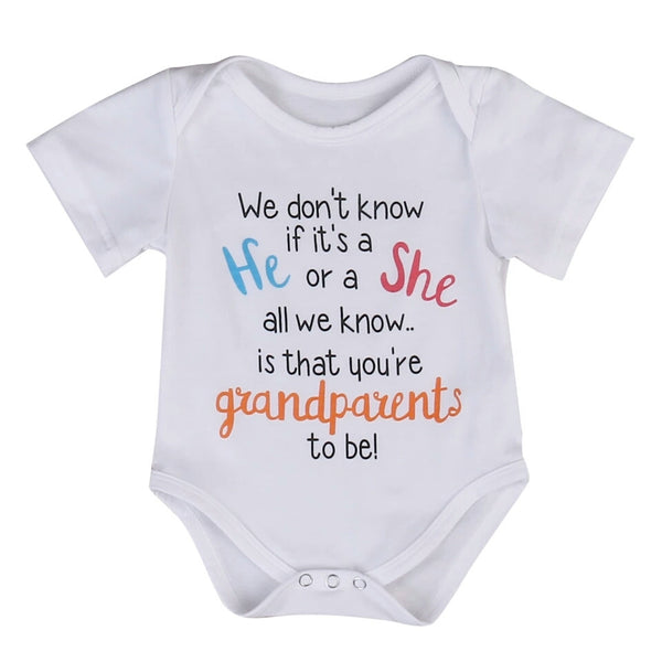 Pregnancy Announcement Bodysuit