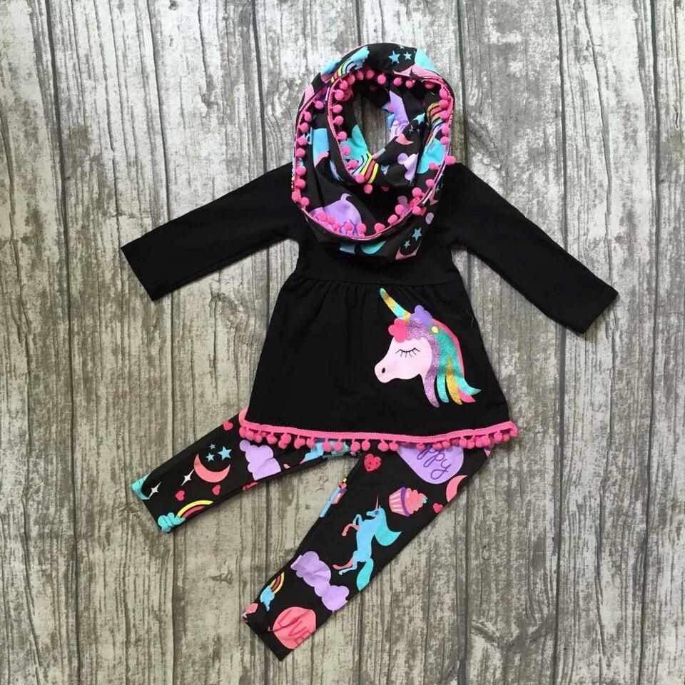 Unicorn Boutique 3 Piece Outfit (Size 2-8 Years)