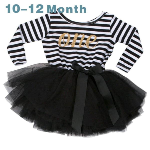 Longsleeve Birthday Tutu Dress (3 Colours)