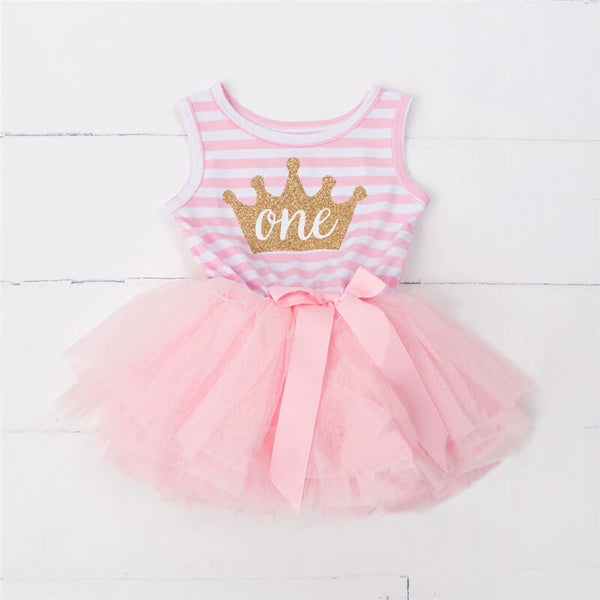 Sleeveless Birthday Tutu Dress (3 Colours, 2 Designs)