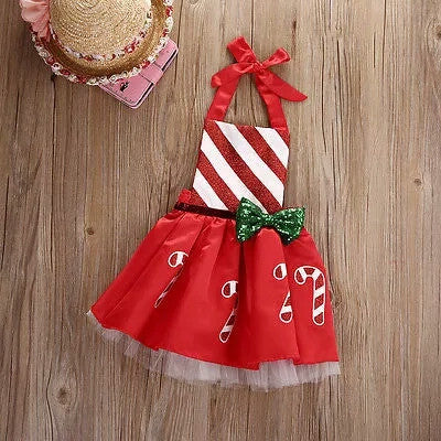 Candy Cane Striped Tutu Dress