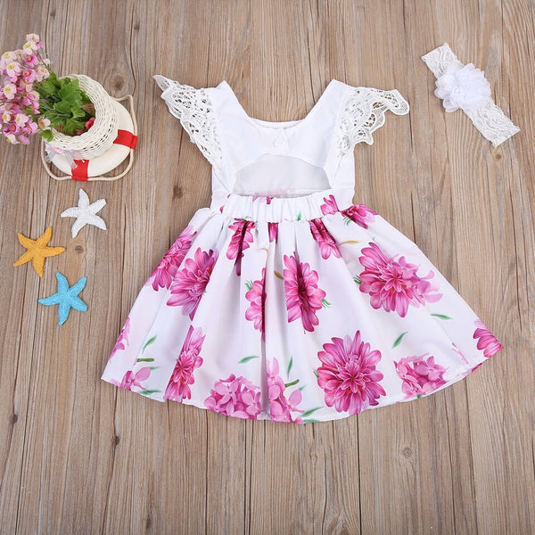 Charlotte Floral Dress & Headband Set