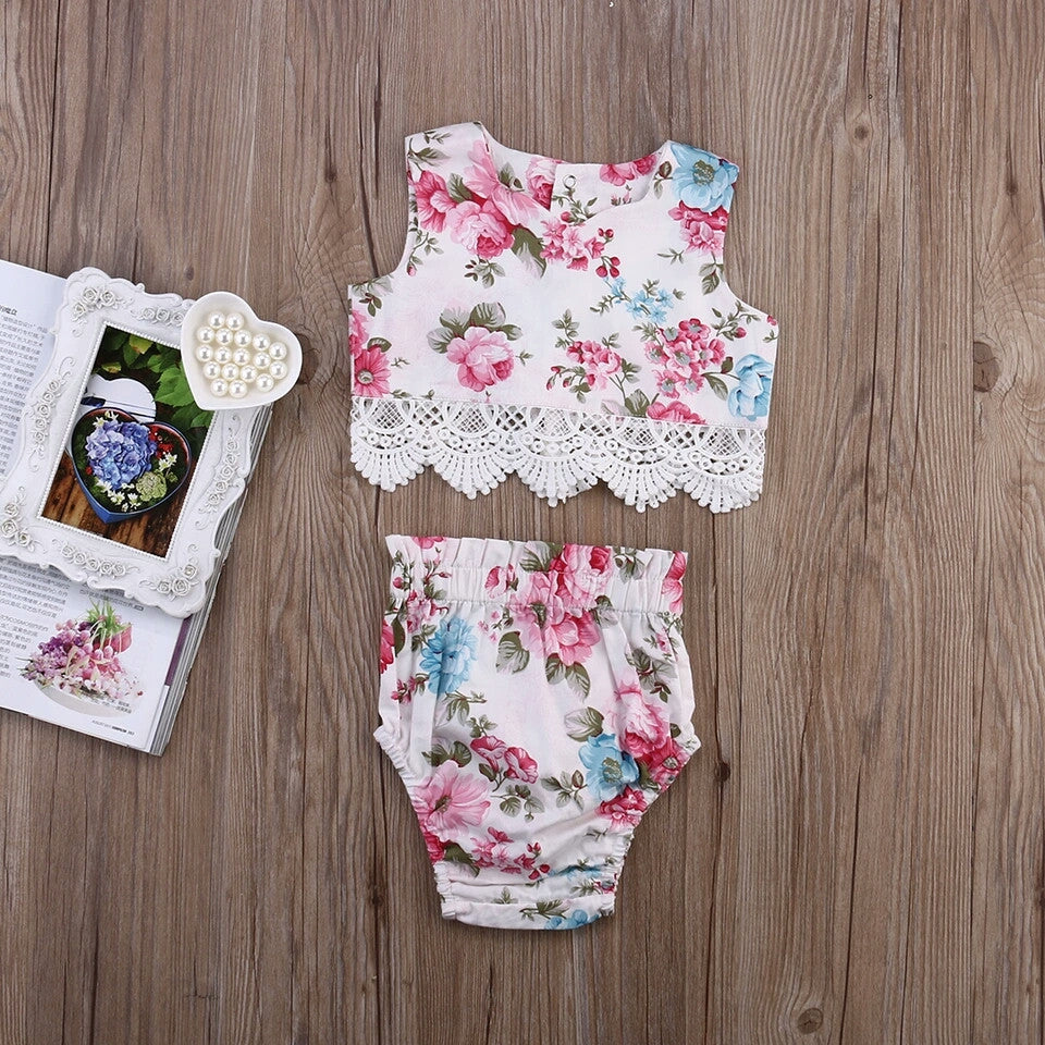 Lace & Floral 2 Piece Set