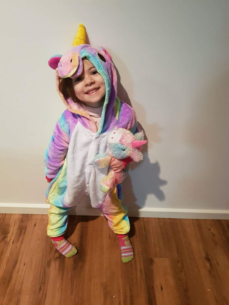 Unicorn Kids Pyjama Onesie (2 Designs)