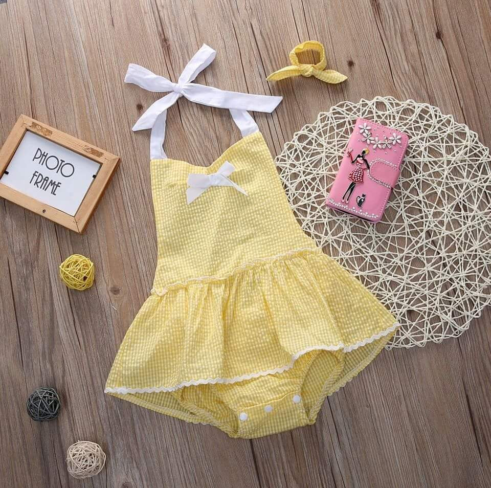 Lola Summer Romper with Matching Headband