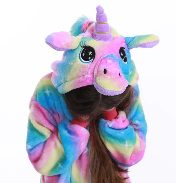 2019 Unicorn Kids Pyjama Onesie (4 Designs)