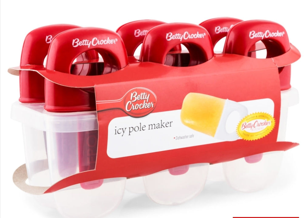 Betty Crocker Icy Pole Makers (6 Pack)