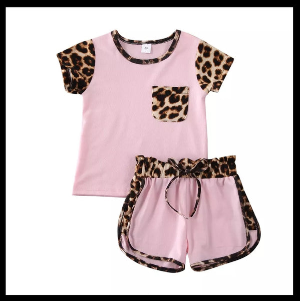 Leopard 2 Piece Summer Outfit (2 Colours)