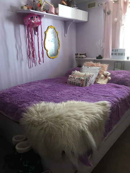 Fluffy 3 Piece Bedding Set (8 Colours)