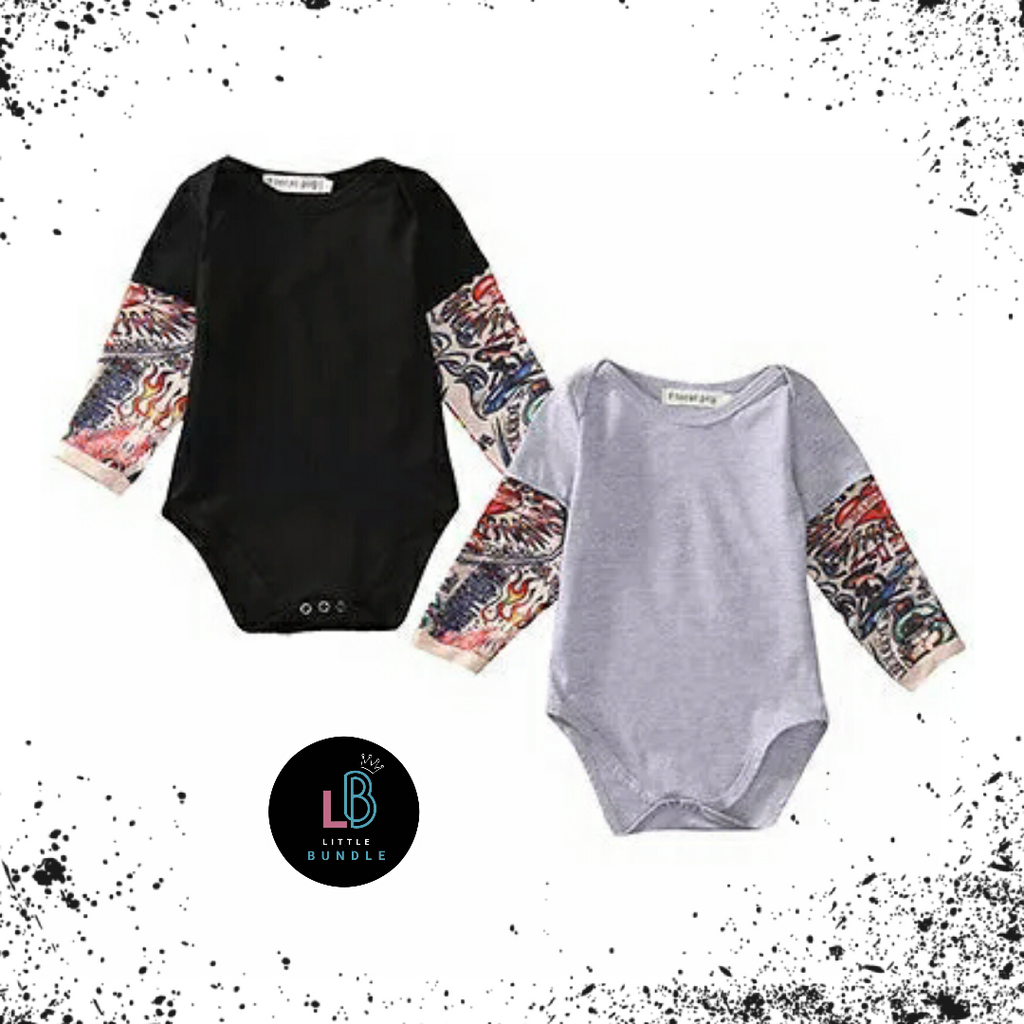 'Tattoo Sleeve' Bodysuit (2 Colours)