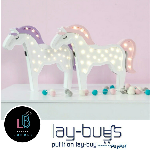 Unicorn Wooden Led Night Light (2 Colours)