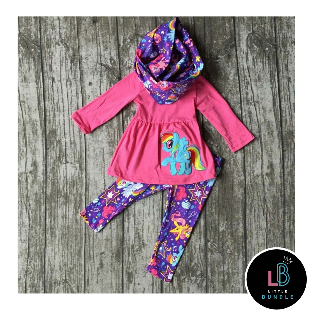 My Little Pony Boutique 3 Piece Outfit (Size 1-8 Years)
