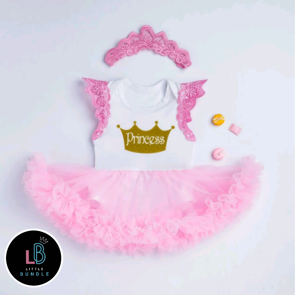 Princess Angel Wings Tutu Romper Dress & Headband