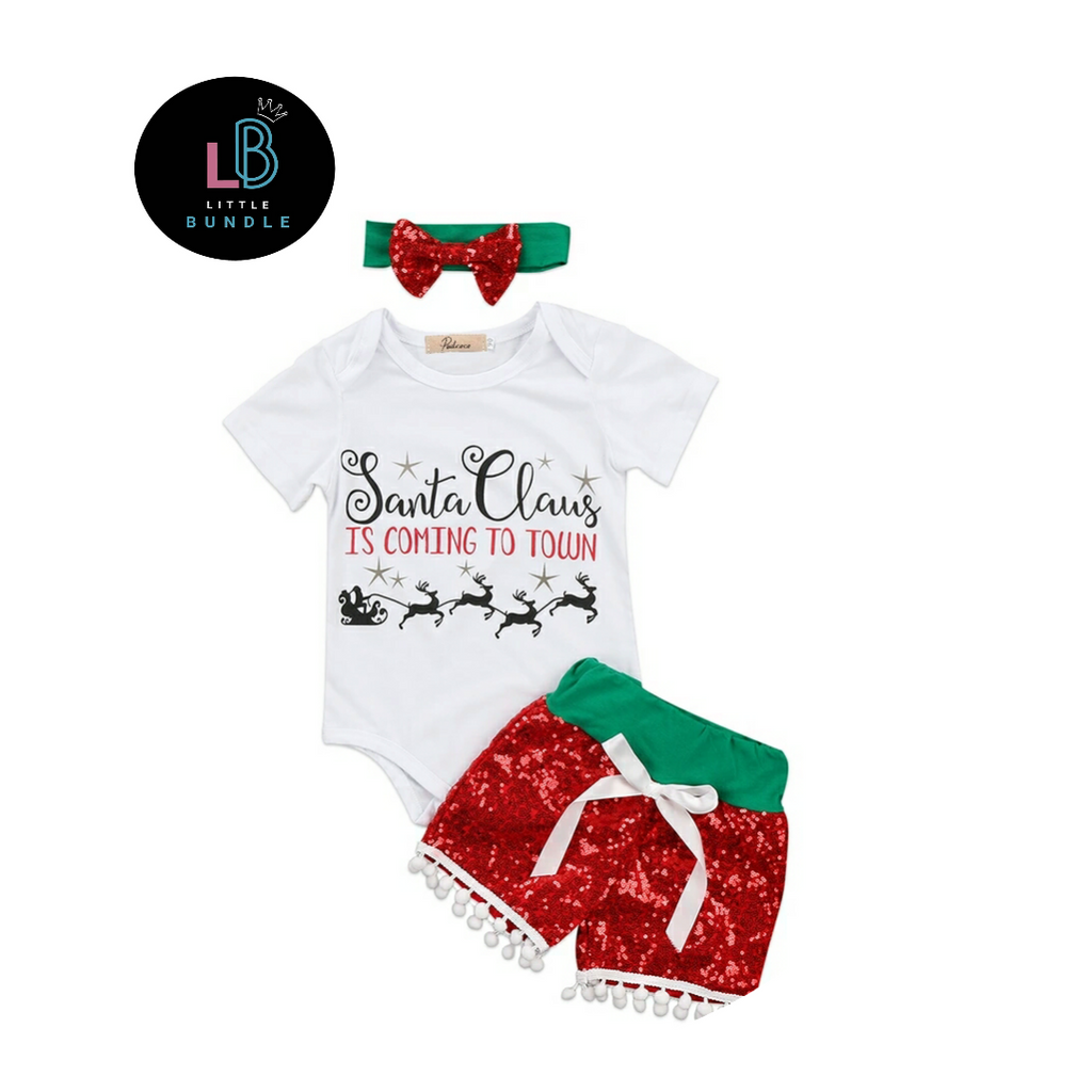 Santa Claus Is Coming To Town 3 Piece Outfit