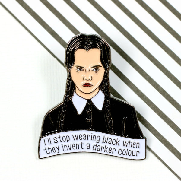 Wednesday Addams Enamel Pin from Punky Pins