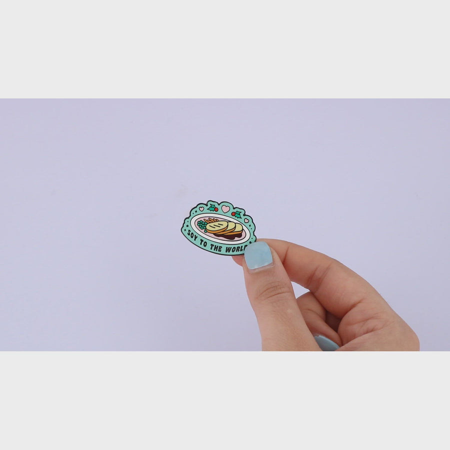 Soy To The World Enamel Pin