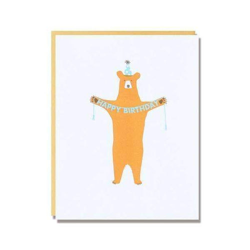 Birthday Bear Greetings Card