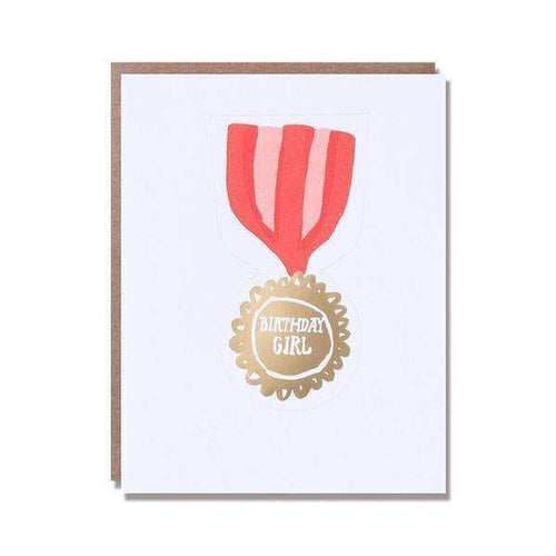 Birthday Girl Medal Birthday Card