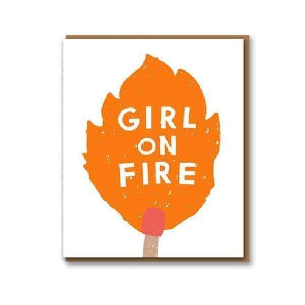 Nineteen Seventy Three Girl on Fire Greetings Card