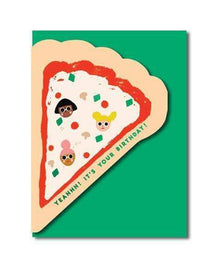 Nineteen Seventy Three Pizza Birthday Greetings Card