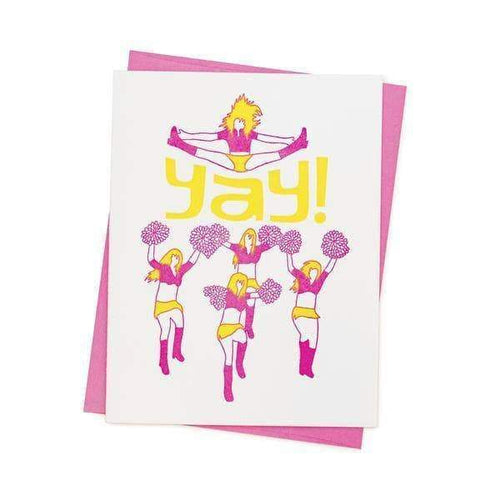 Yay Cheerleader Greetings Card