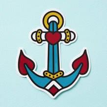 Punky Pins Anchor Tattoo Inspired Vinyl Laptop Sticker