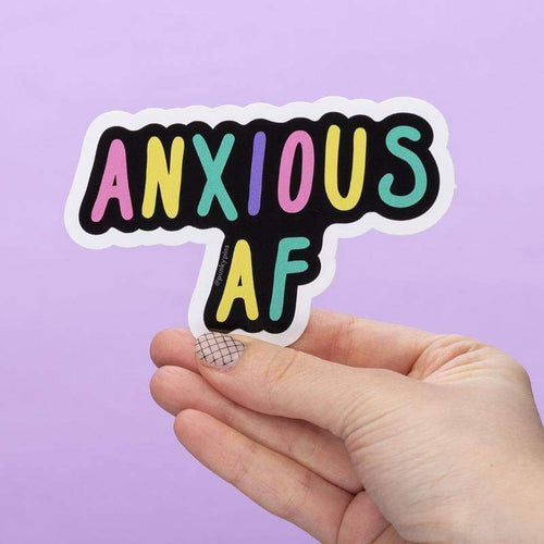 Punky Pins Anxious AF Large Vinyl Sticker