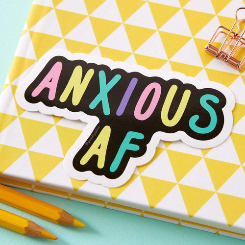 Anxious AF Large Vinyl Sticker