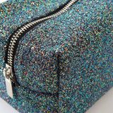 Punky Pins Black Glitter Make Up Bag