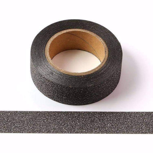 Punky Pins Black Glitter Sparkle Washi Tape