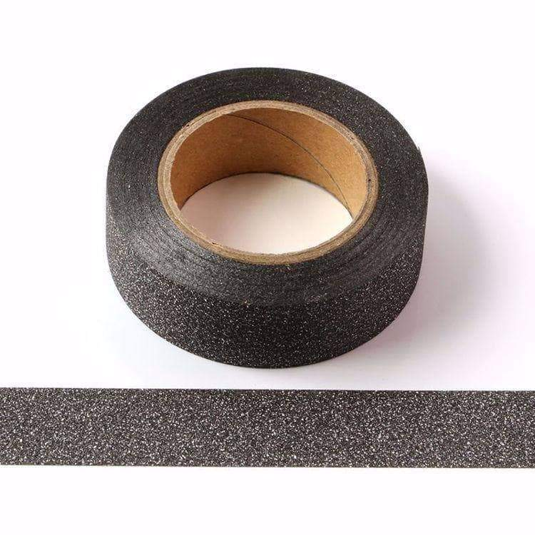 Black Glitter Sparkle Washi Tape